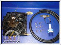 Ölkühler bis 150PS mit Elektro-Lüfter und Thermoschalter Kit 4m