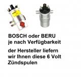 Zündspule org Bosch/Beru 6 Volt